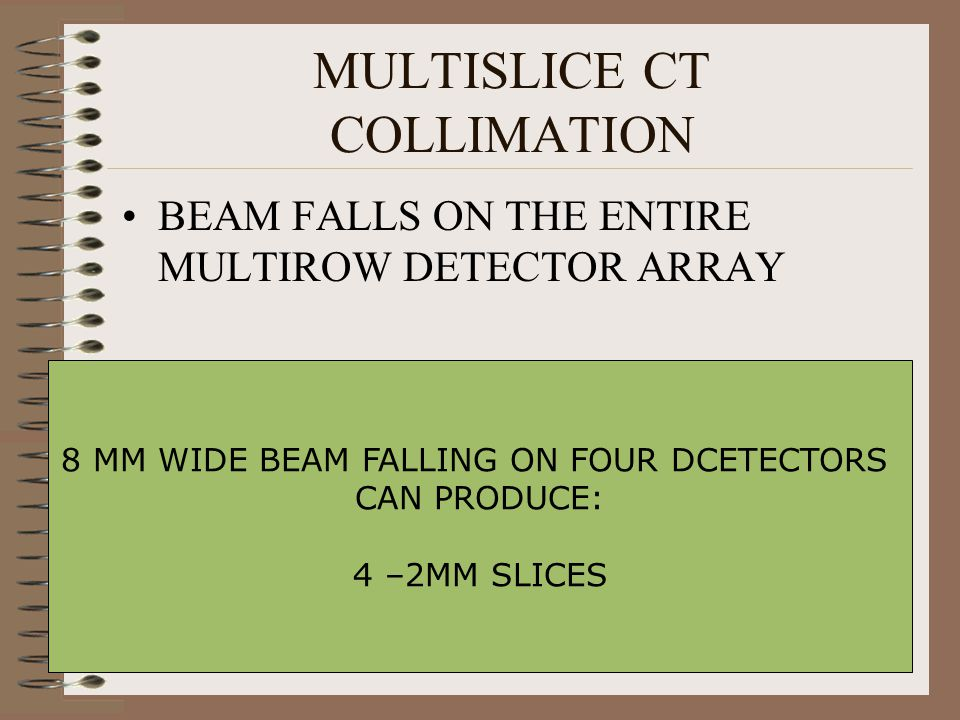 MULTISLICE CT COLLIMATION