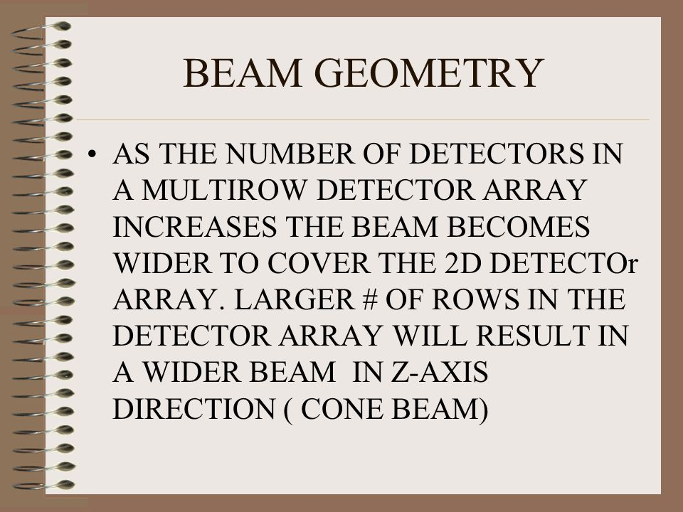 BEAM GEOMETRY