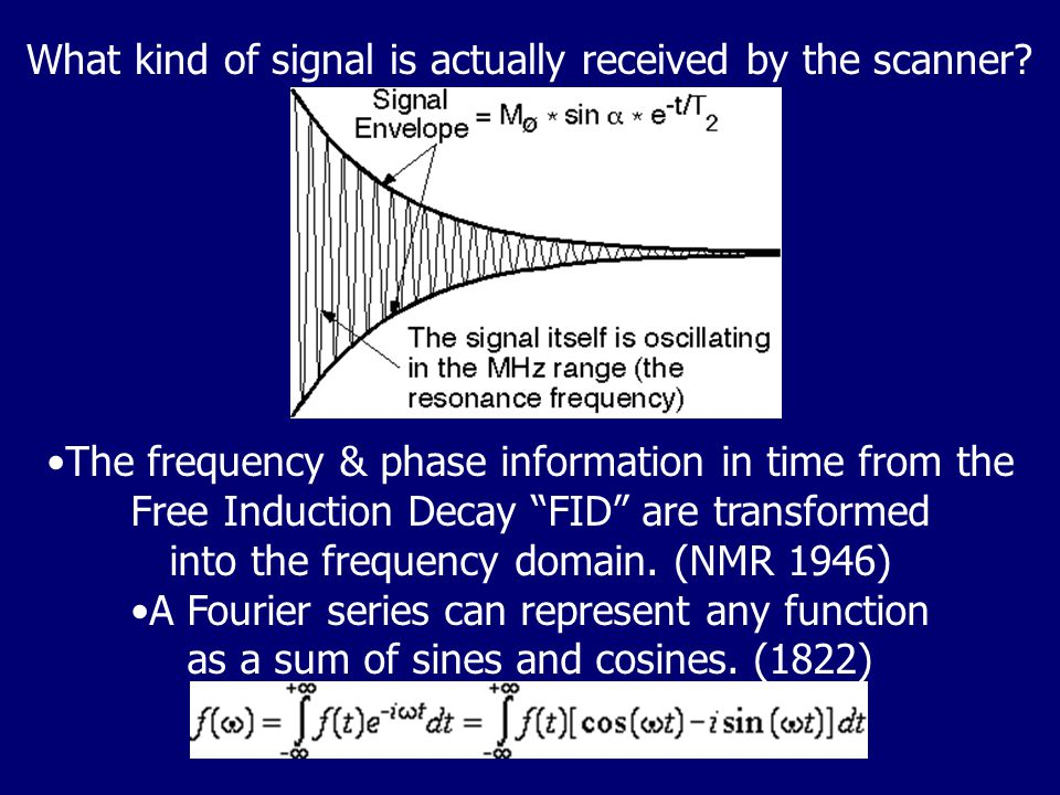 What kind of signal is actually received by the scanner