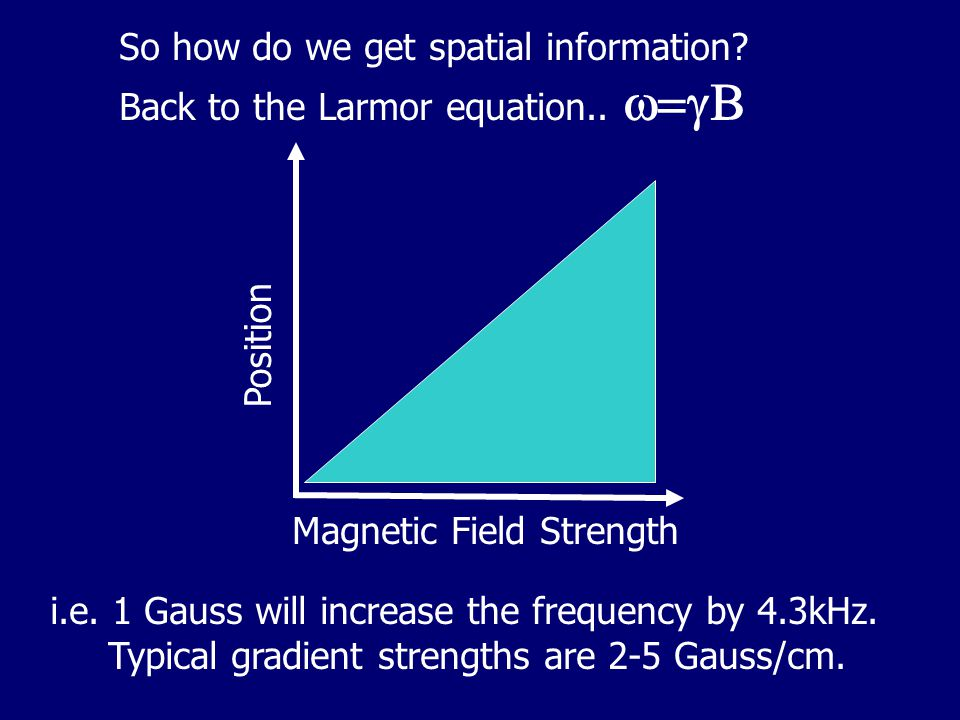 So how do we get spatial information