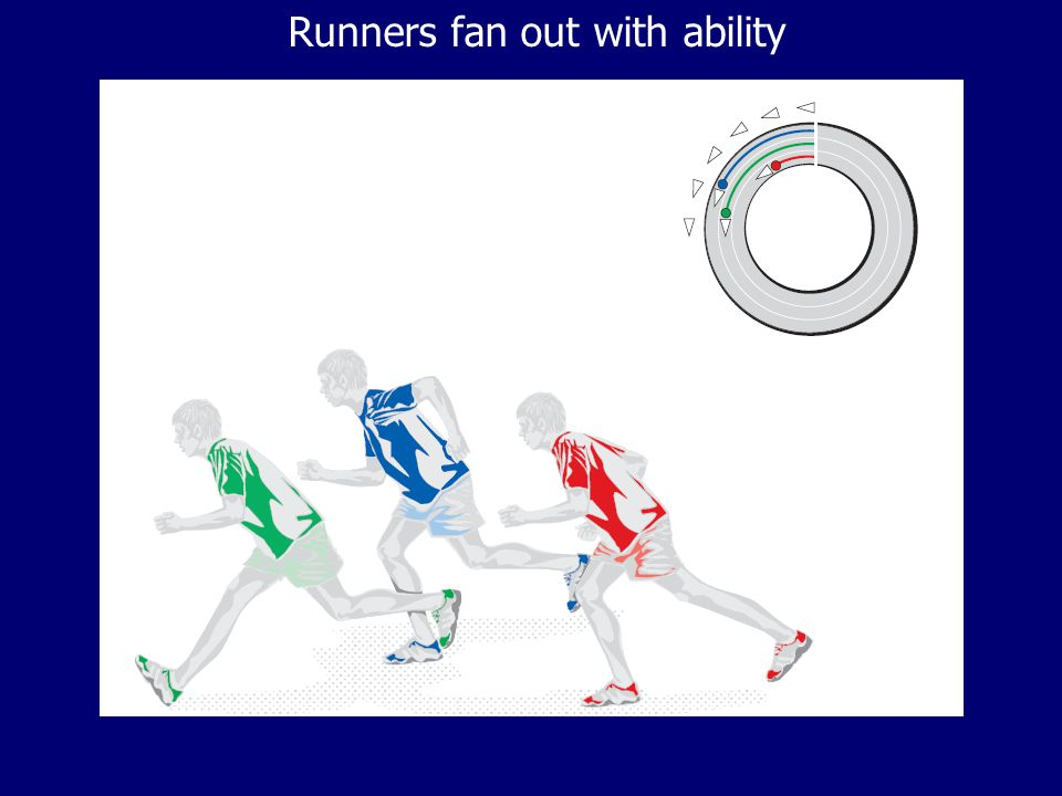 Runners fan out with ability