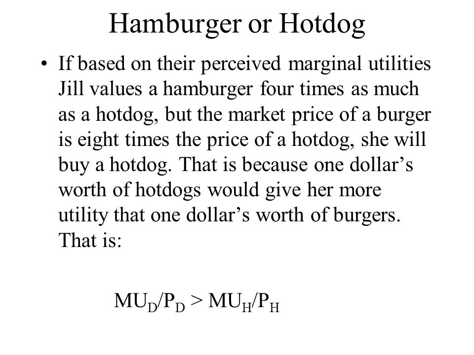 Hamburger or Hotdog