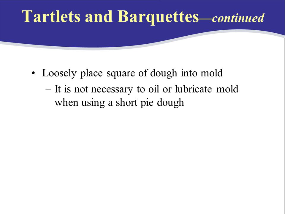 Tartlets and Barquettes—continued