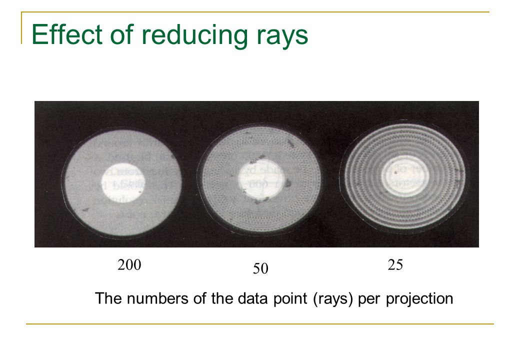 Effect of reducing rays