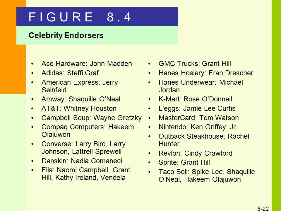 F I G U R E 8 . 4 Celebrity Endorsers Ace Hardware: John Madden