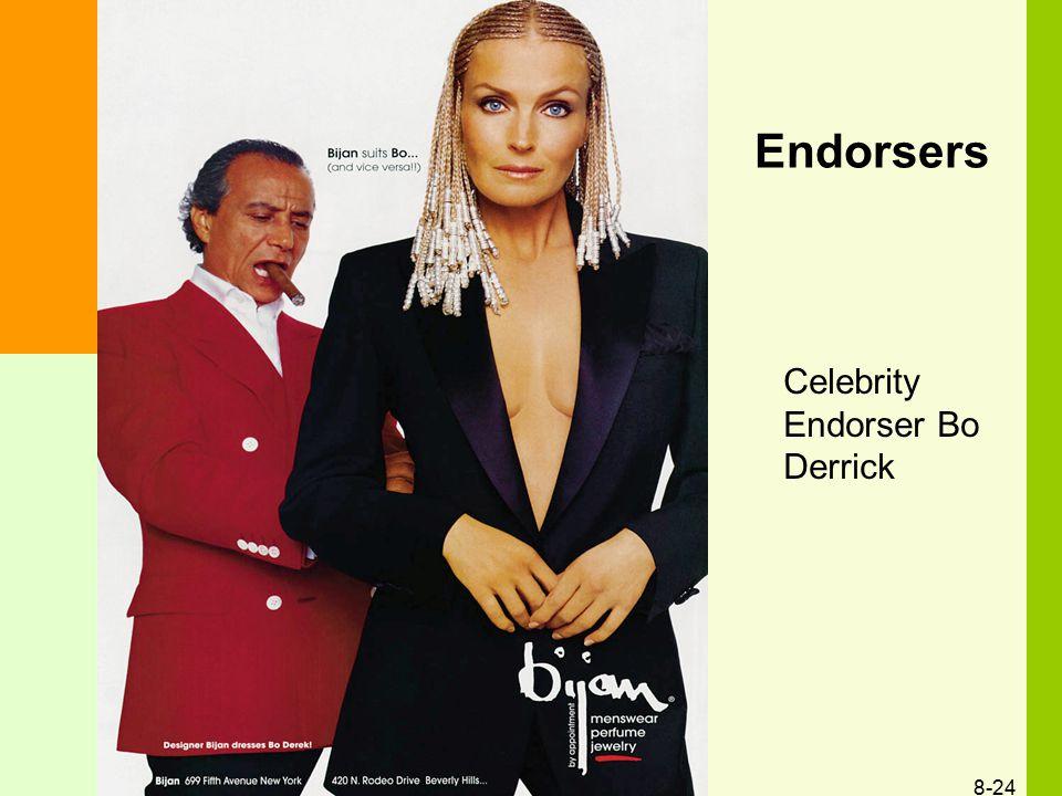 Endorsers Celebrity Endorser Bo Derrick