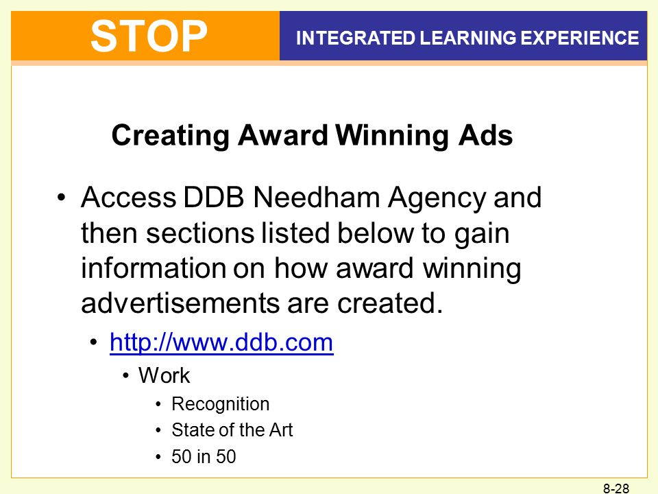 Creating Award Winning Ads