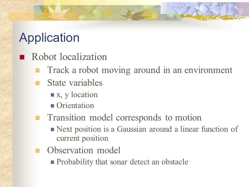 Application Robot localization