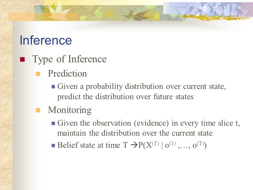 Inference Type of Inference Prediction Monitoring