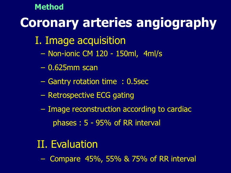 Coronary arteries angiography