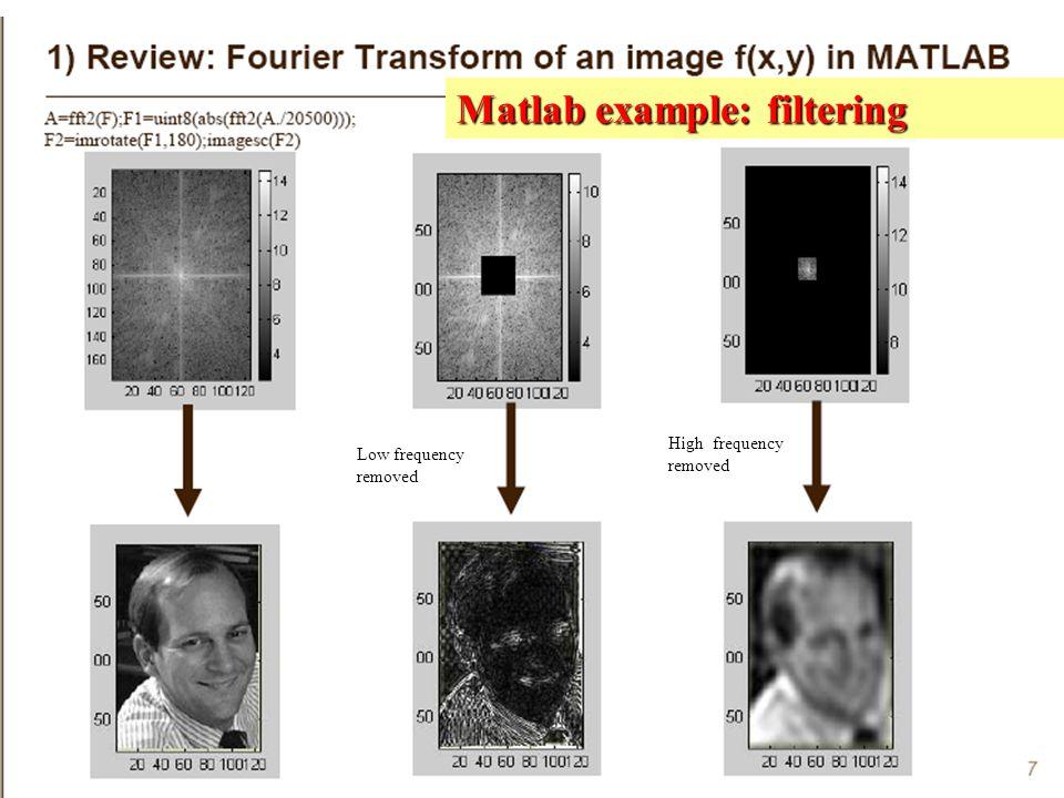 Matlab example: filtering