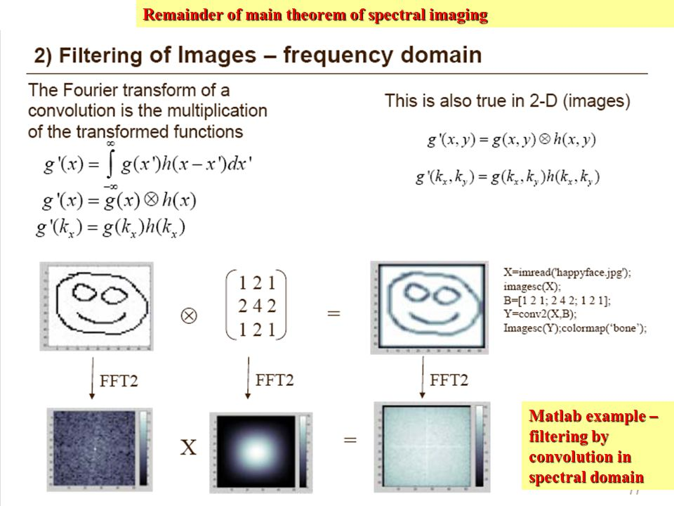 Remainder of main theorem of spectral imaging