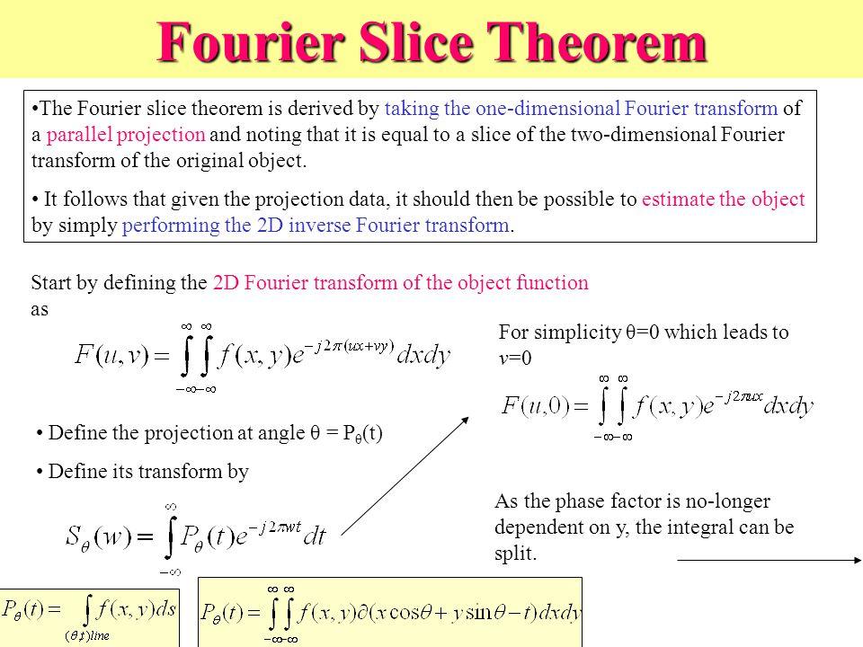 Fourier Slice Theorem