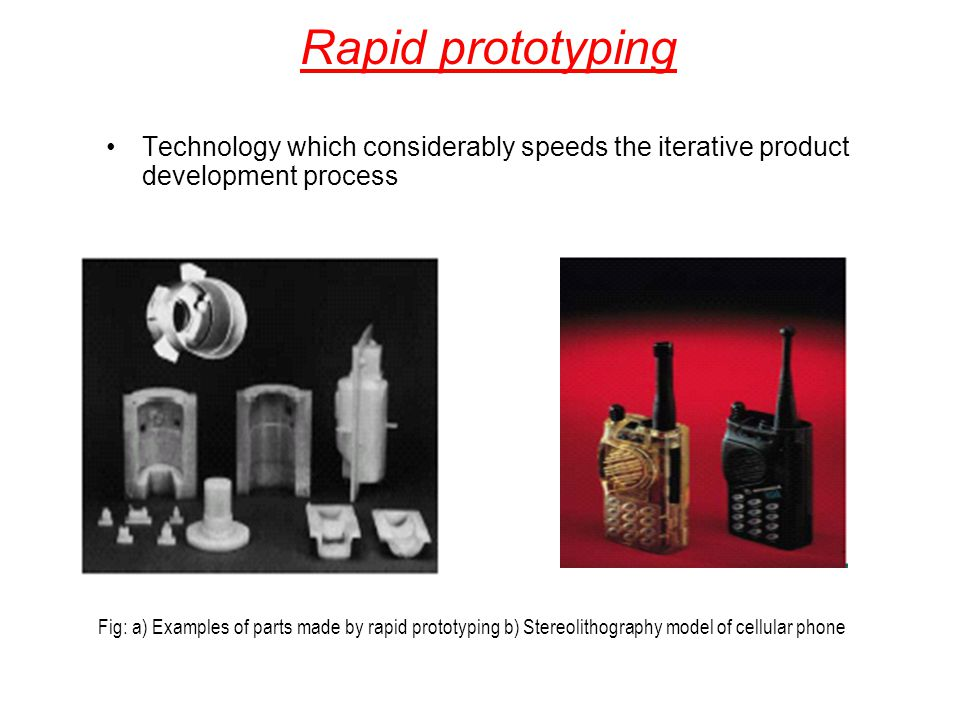 Rapid prototyping Technology which considerably speeds the iterative product development process.