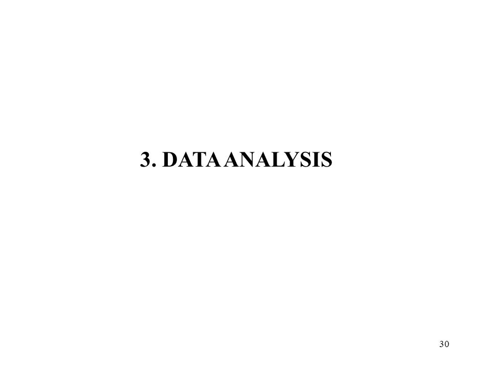 3. DATA ANALYSIS
