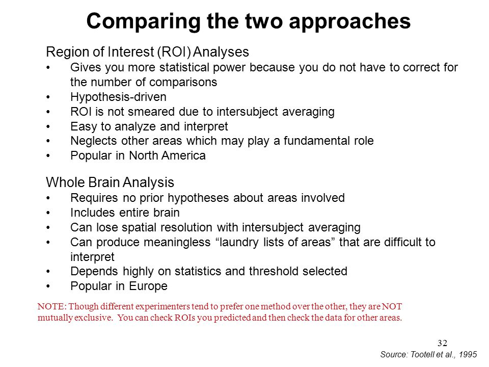 Comparing the two approaches