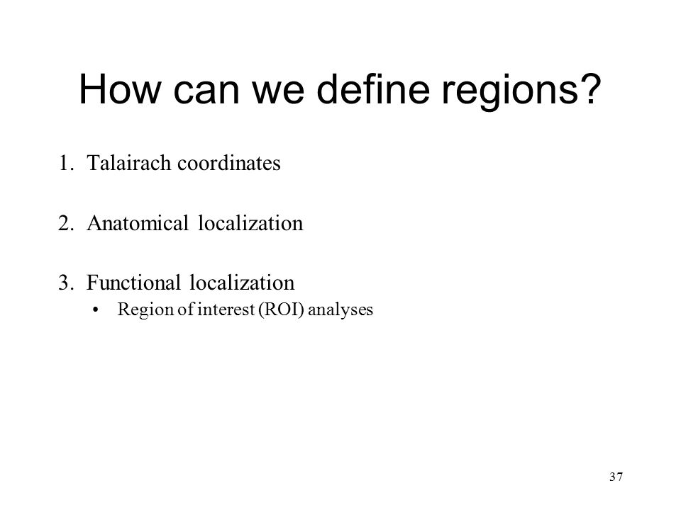 How can we define regions
