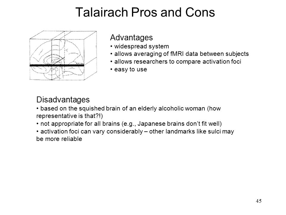 Talairach Pros and Cons