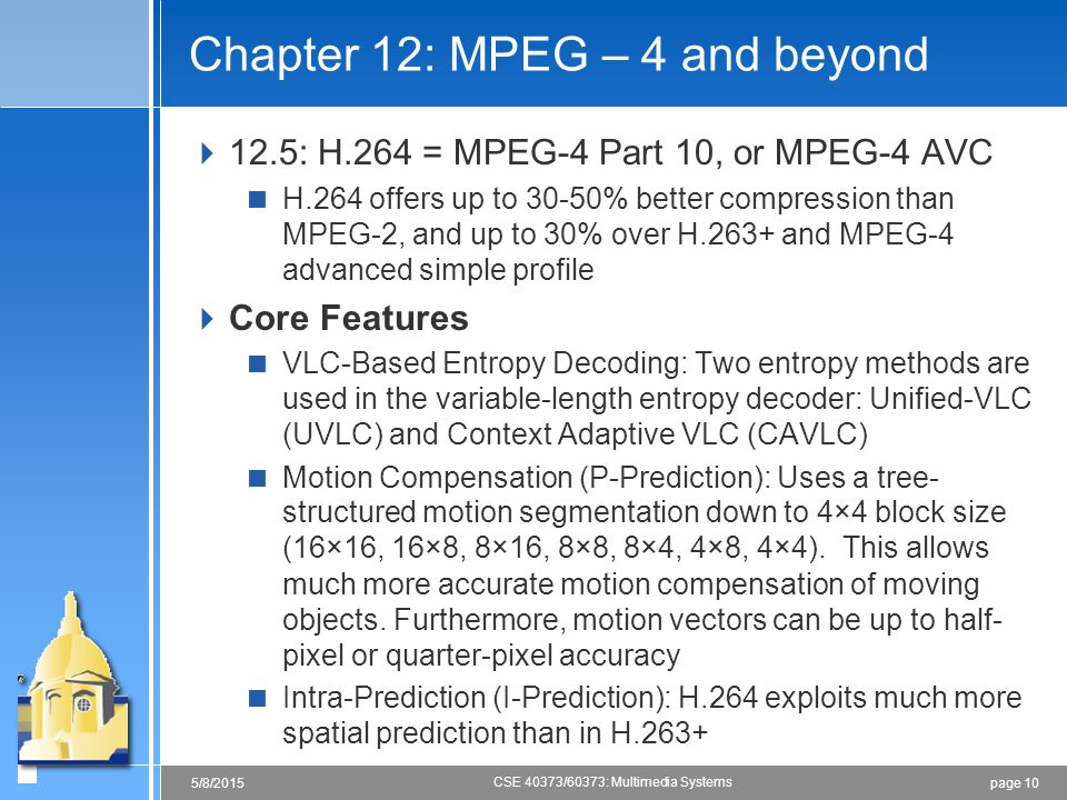 Chapter 12: MPEG – 4 and beyond