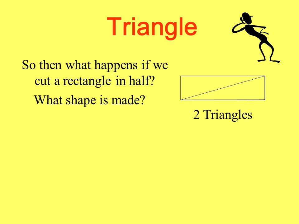 So then what happens if we cut a rectangle in half