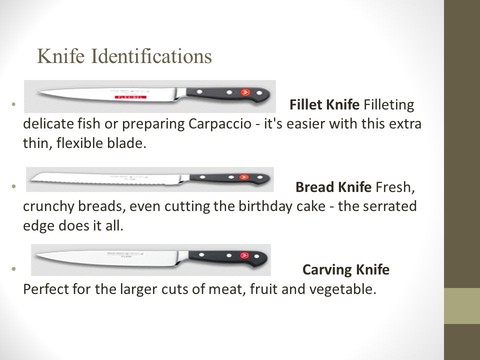 Knife Identifications