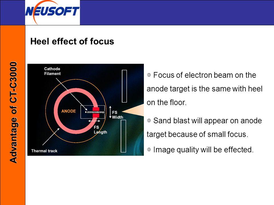 Heel effect of focus Advantage of CT-C3000