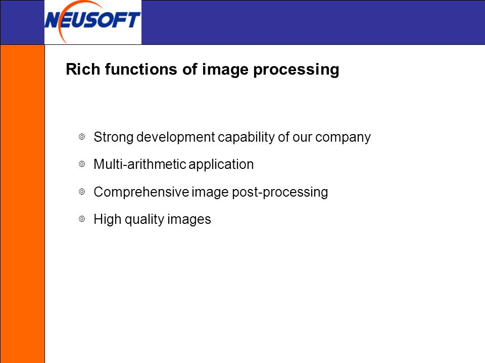 Rich functions of image processing