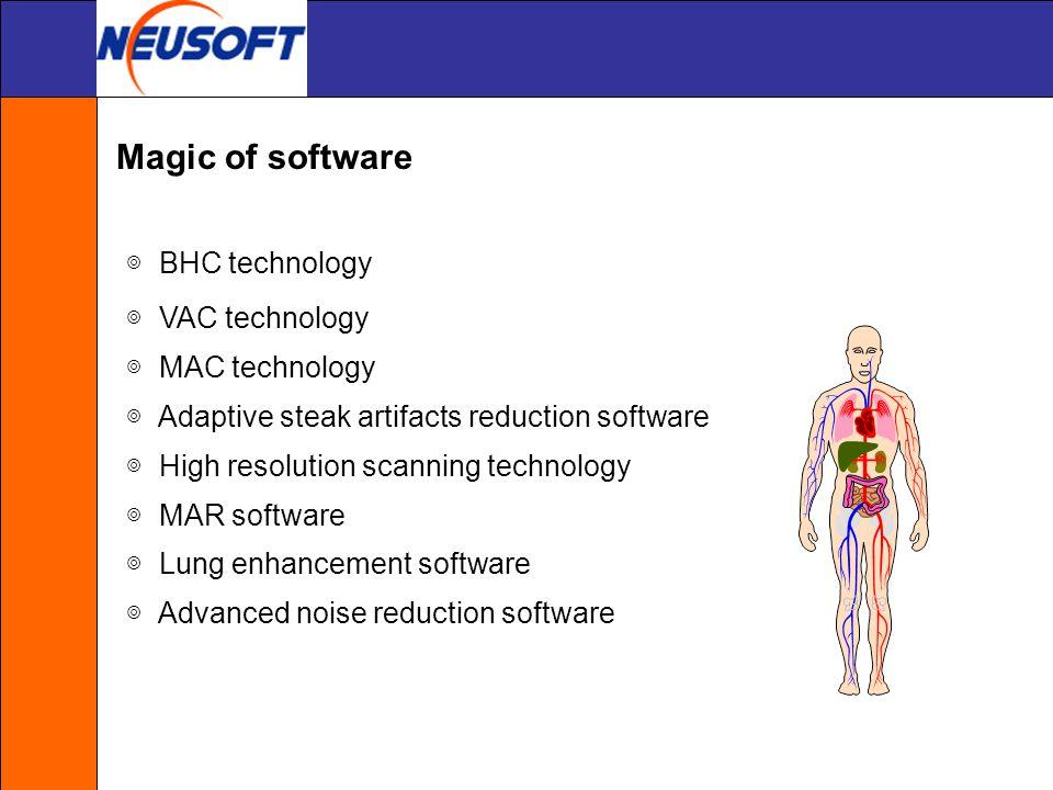 Magic of software ◎ BHC technology ◎ VAC technology ◎ MAC technology
