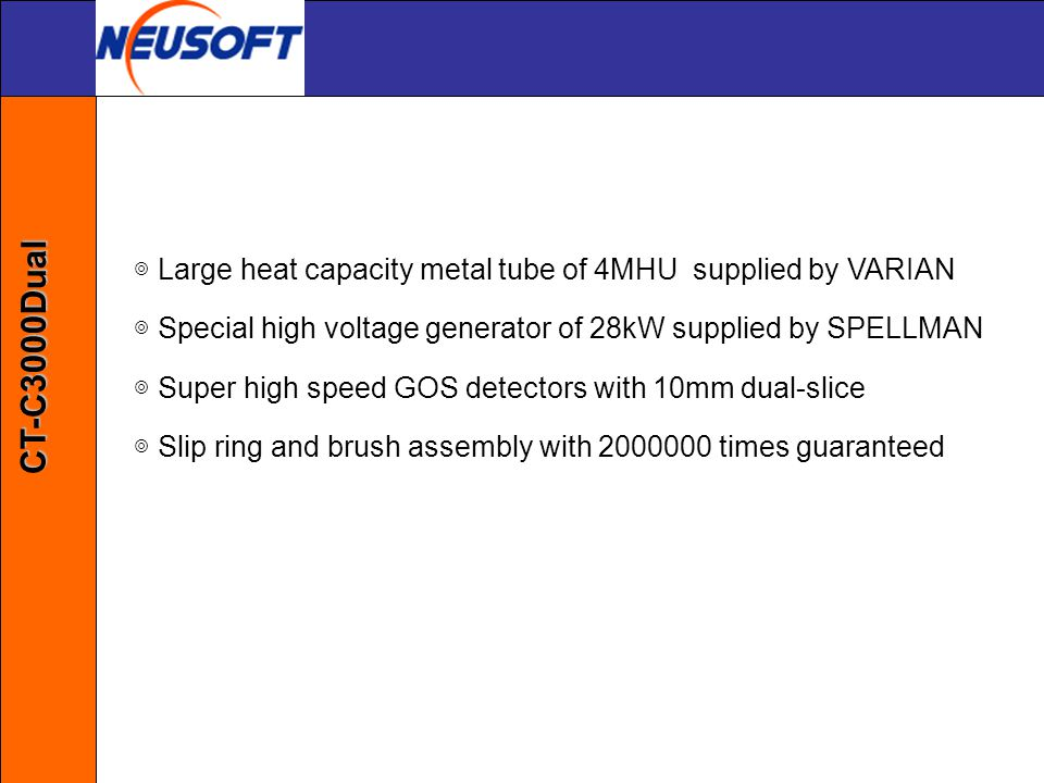 ◎ Large heat capacity metal tube of 4MHU supplied by VARIAN