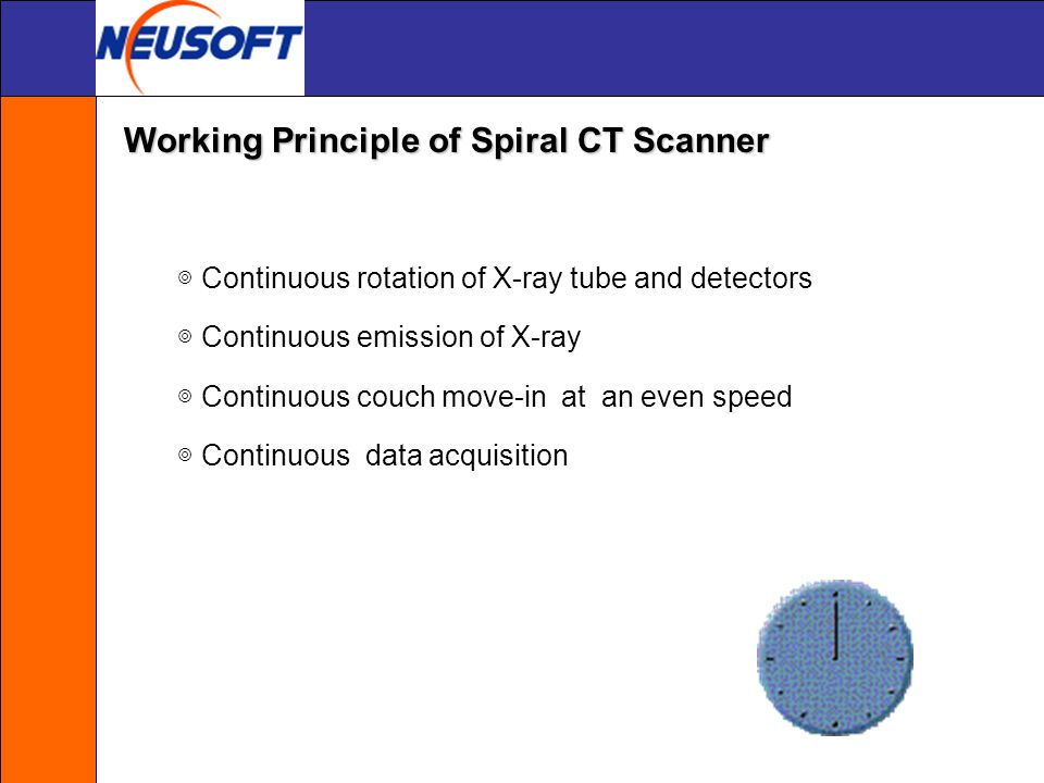 Working Principle of Spiral CT Scanner