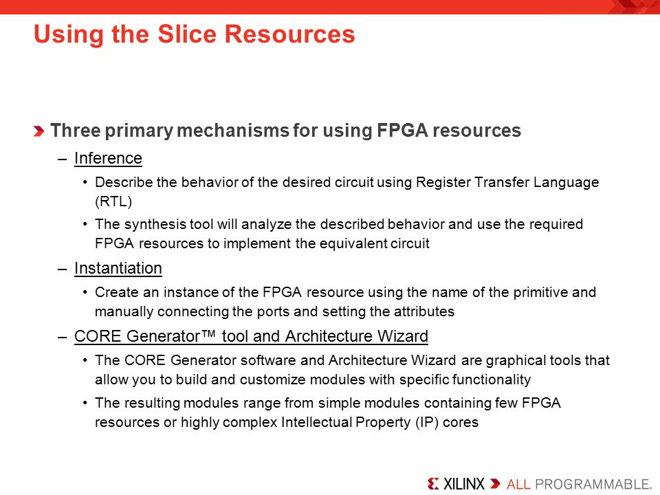Using the Slice Resources