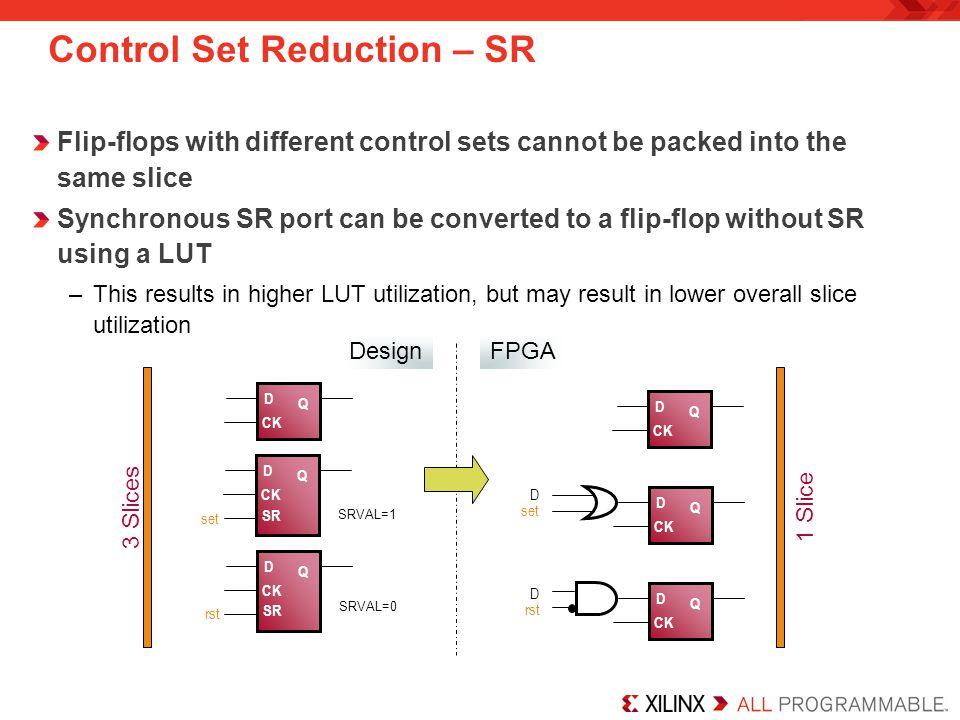 Control Set Reduction – SR