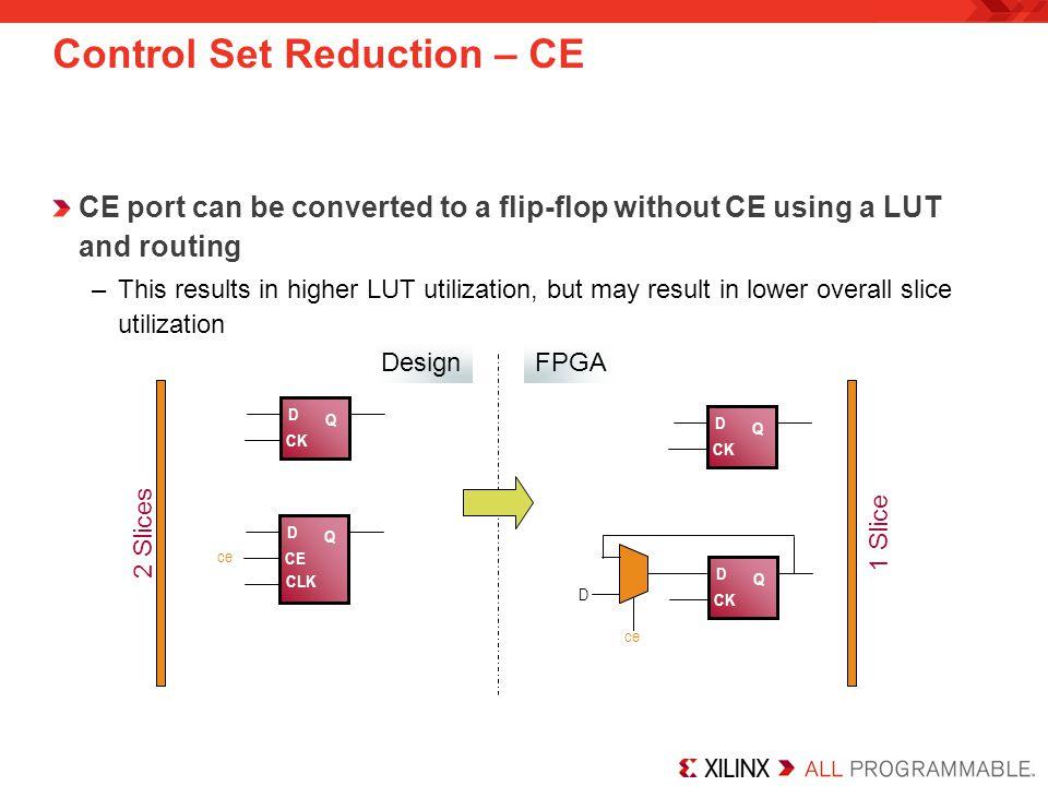 Control Set Reduction – CE