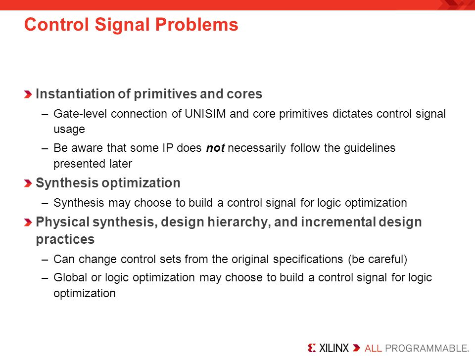 Control Signal Problems
