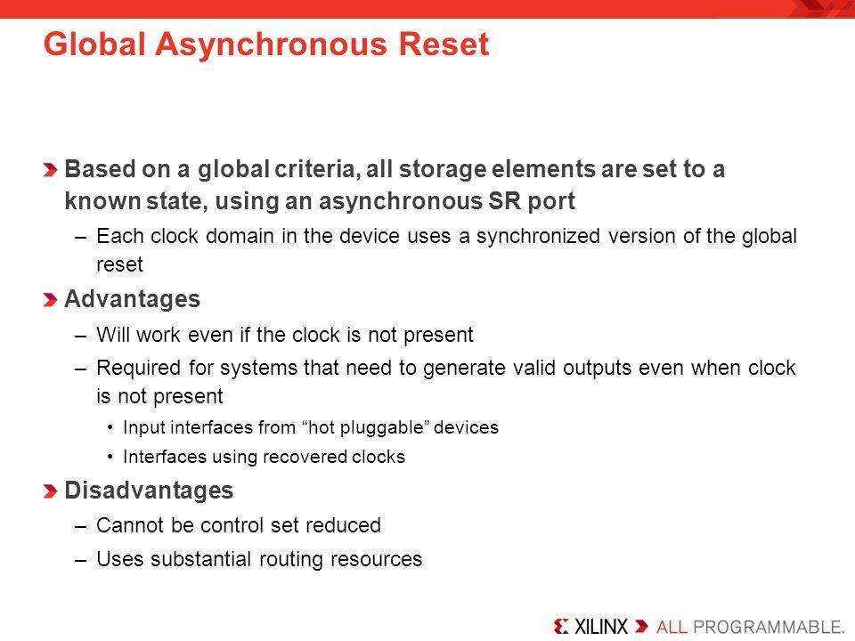 Global Asynchronous Reset