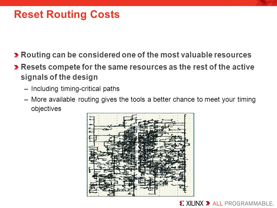Reset Routing Costs Routing can be considered one of the most valuable resources.