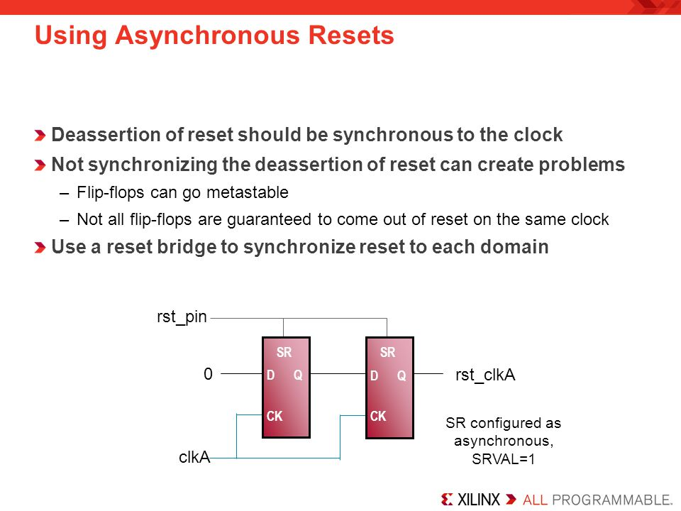 Using Asynchronous Resets