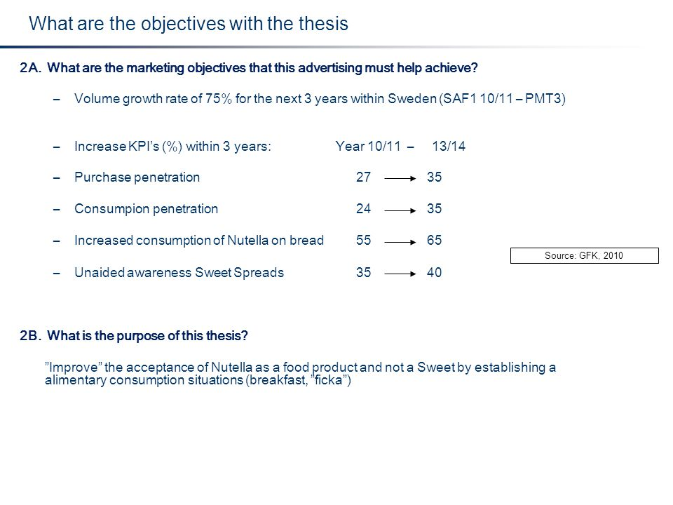 What are the objectives with the thesis