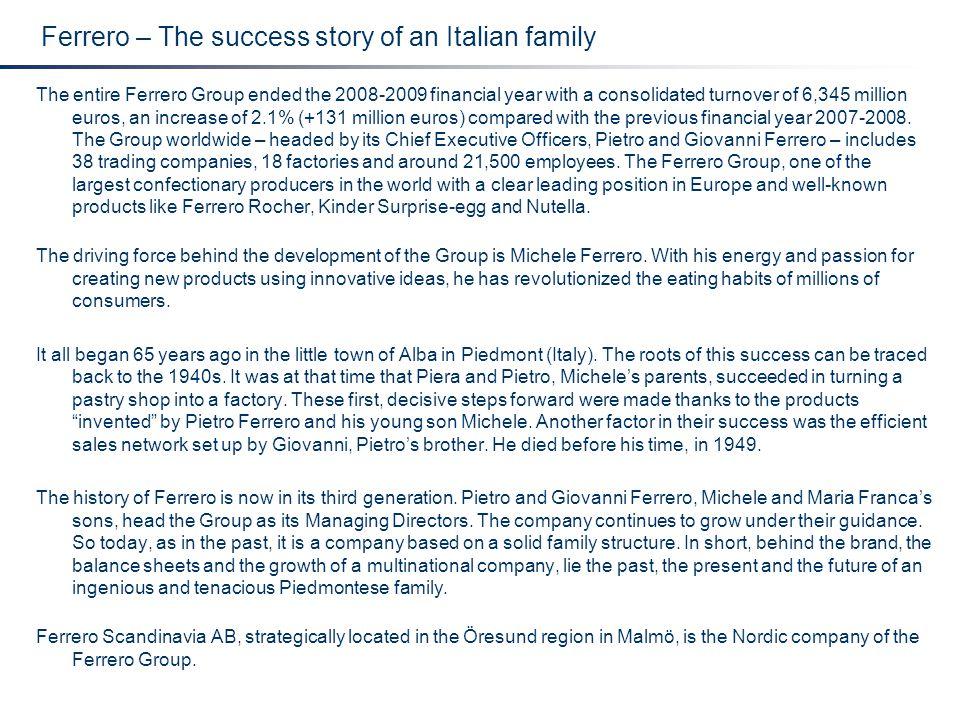 Ferrero – The success story of an Italian family