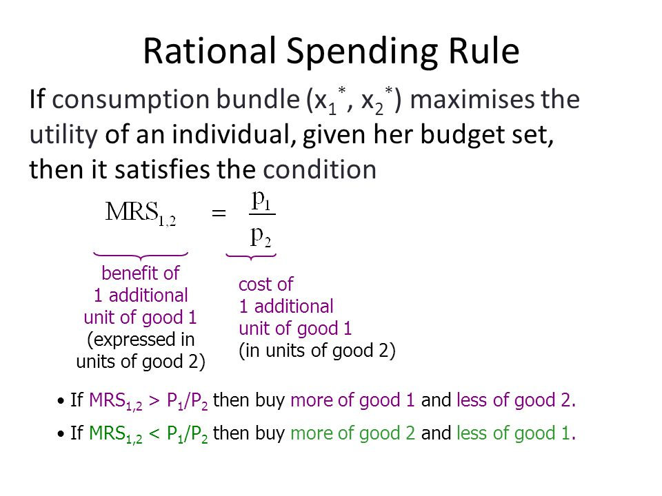 Rational Spending Rule