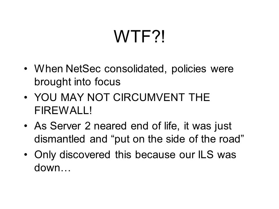 WTF ! When NetSec consolidated, policies were brought into focus