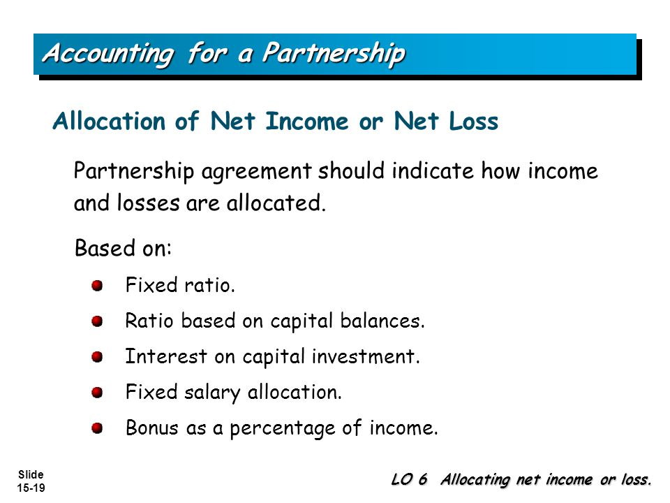 Accounting for a Partnership