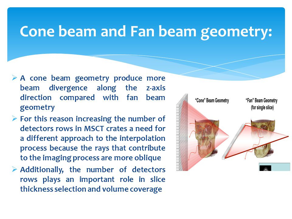Cone beam and Fan beam geometry:
