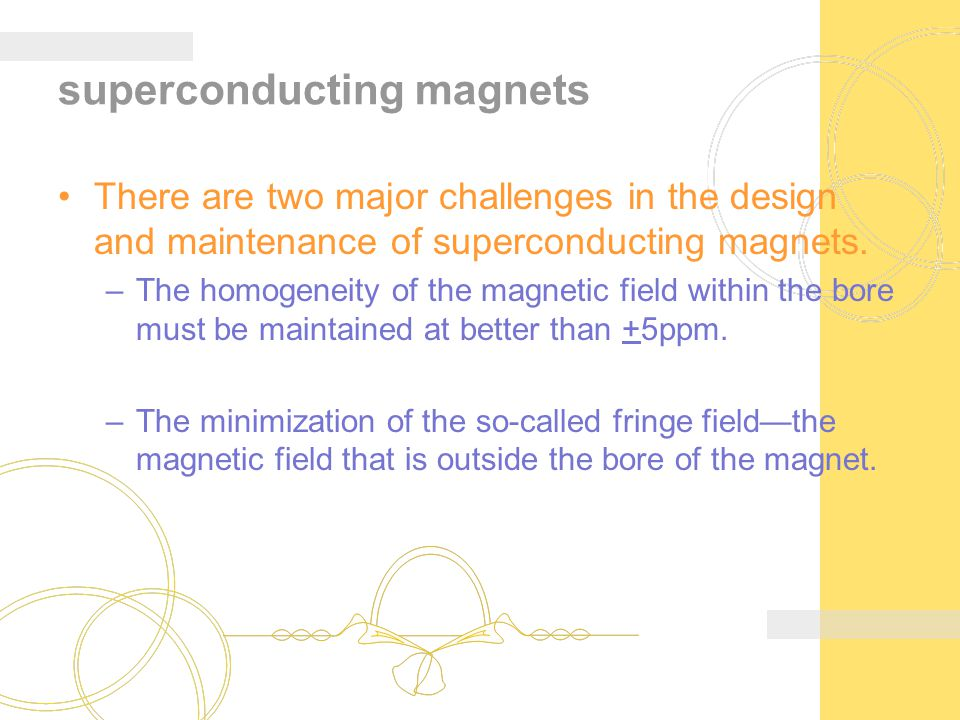 superconducting magnets