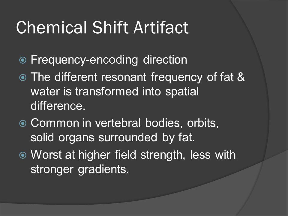 Chemical Shift Artifact
