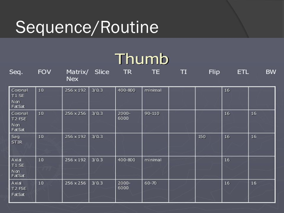 Sequence/Routine