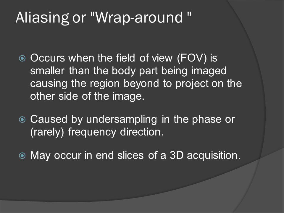 Aliasing or Wrap-around