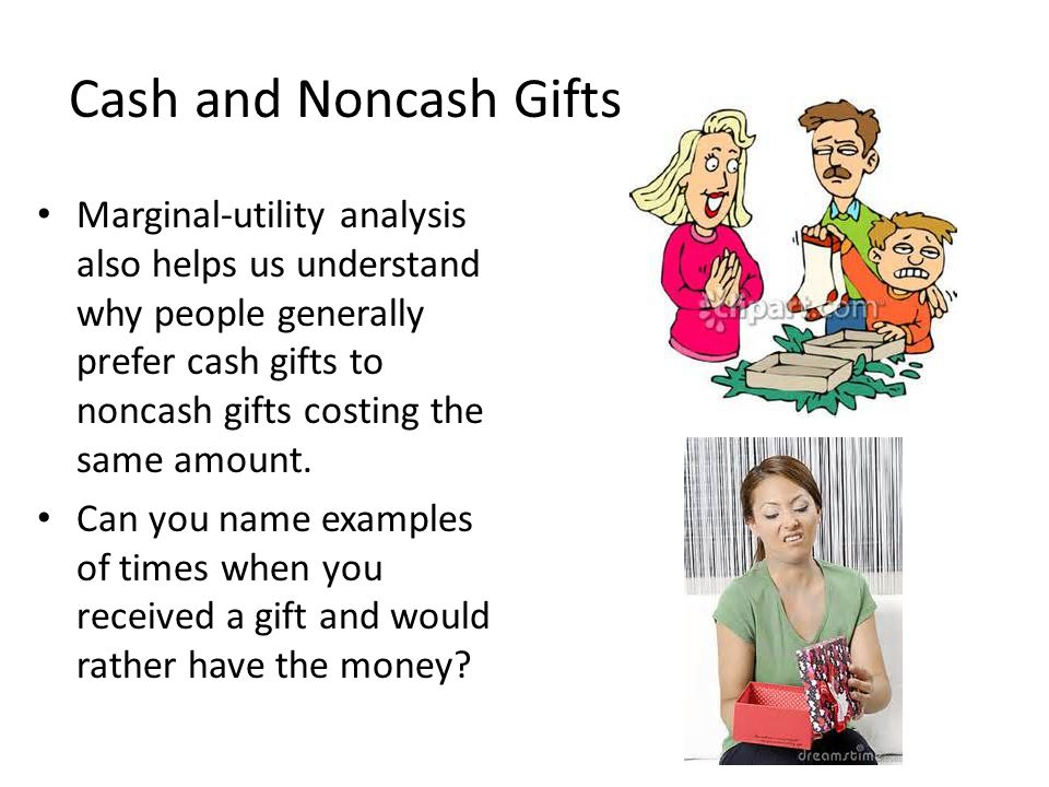 Cash and Noncash Gifts