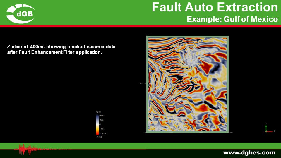 Fault Auto Extraction Example: Gulf of Mexico
