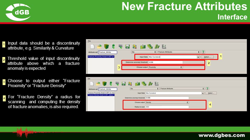 New Fracture Attributes Interface